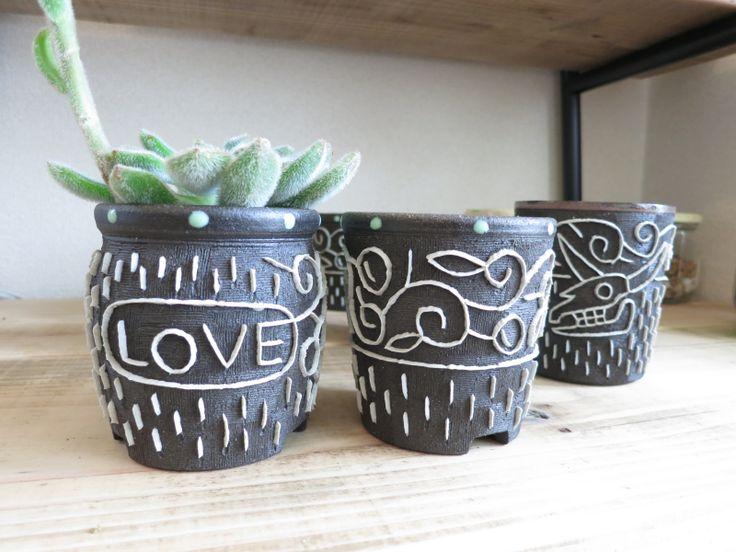 今回の展示にために作られた 不思議植物のための Flower Pot