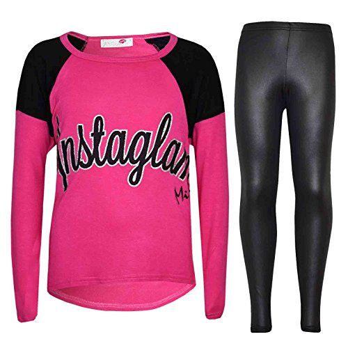 Kids Girls Instaglam Printed Trendy Top & Fashion Legging Set Age New 7-13 Years. Kids Girls Instaglam Printed Trendy Top & Fashion Legging Sets. Instaglam Printed on The Front Of The Top. Available in Grey, Pink & Red Color. Available Size; 7-8 Year, 9-10 Year, 11-12 Year, & 13 years. A Nice, Great & Perfect Gift For Girls.