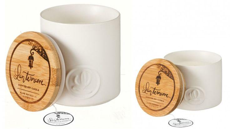 Lanterncove Pastel Creamy Coconut and Jasmine Candle