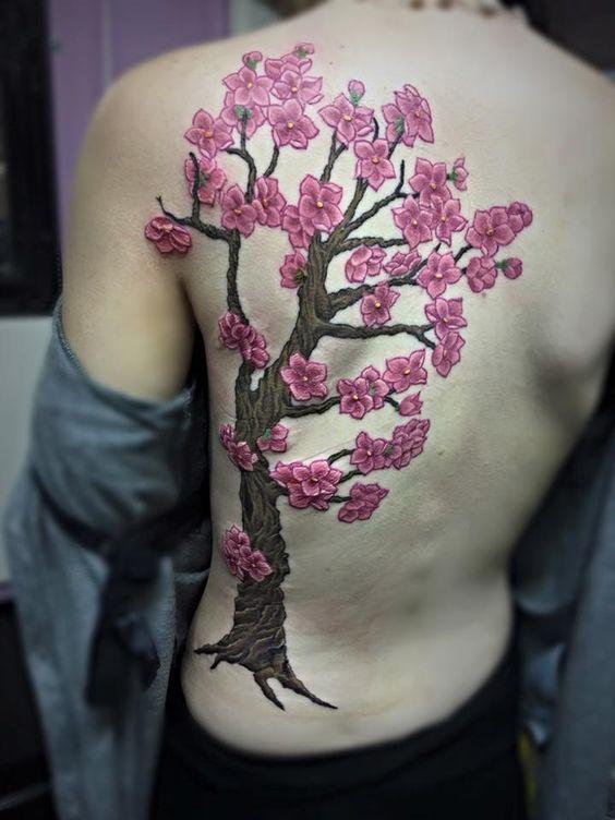Diseños De Tatuajes De Arboles De Cerezos En Los últimos Tiempos Los
