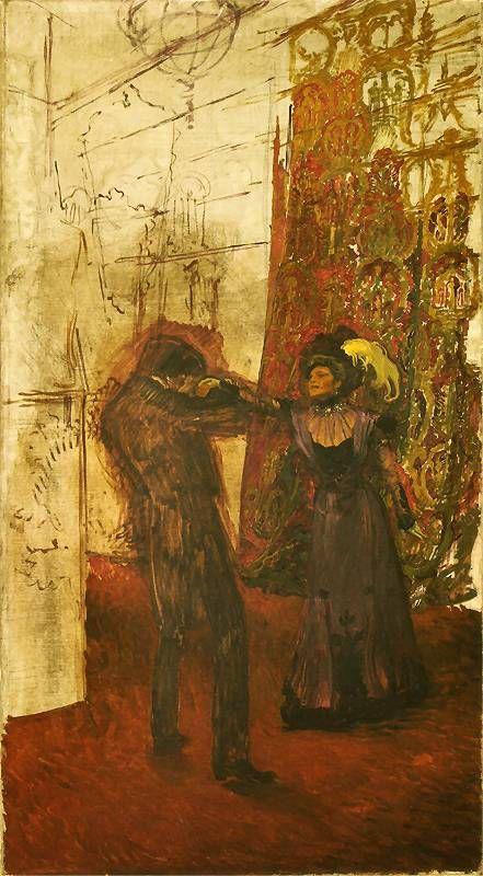 Józef Mehoffer - The Farewell, 1900