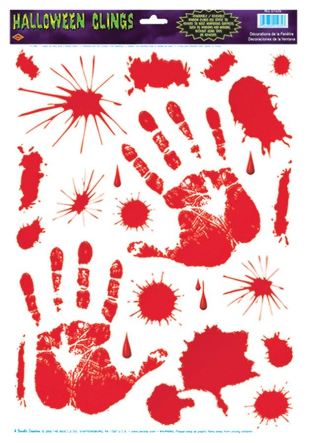 buy costumes online like the bloody handprint clings from australias leading costume shop