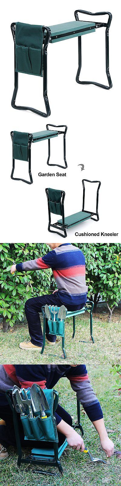 Garden Kneelers Pads and Seats 75669: Garden Kneeler Seat Stool Soft Cushion Portable Patio Folding Tool Pouch Sturdy -> BUY IT NOW ONLY: $43.93 on eBay!