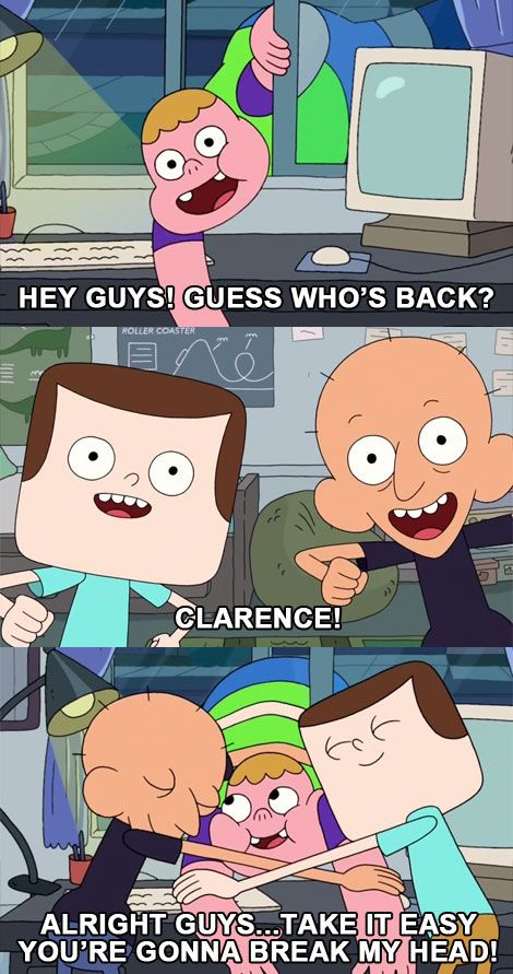 Alright Guys Take It Easy You're Gonna Break My Head! #clarence #jeff #sumo