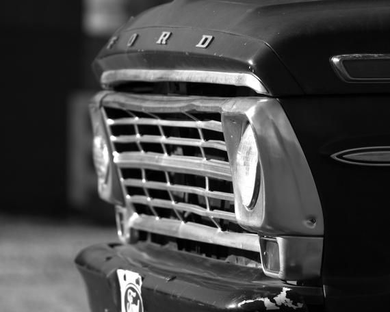 Ford F250,Black & White Decor, Vintage Truck Print, Classic Car Photo, Wall Art Photo, Pickup Truck