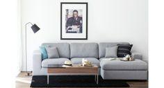 Hoekbank Boston met slaapfunctie beige-grijs rechts voordelig online bestellen - FASHION FOR HOME