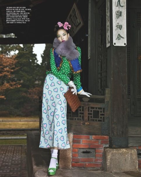 """Winter Flowers"" by Bo Lee for Vogue Korea"