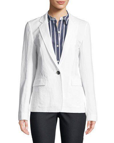 Lafayette 148 New York Lyndon Courtley Cotton Jacket