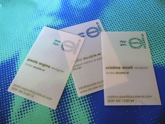 Our business cards! Pinkograf made these amazing business cards for Double-ei.