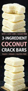 3-Ingredient No Bake Coconut Crack Bars
