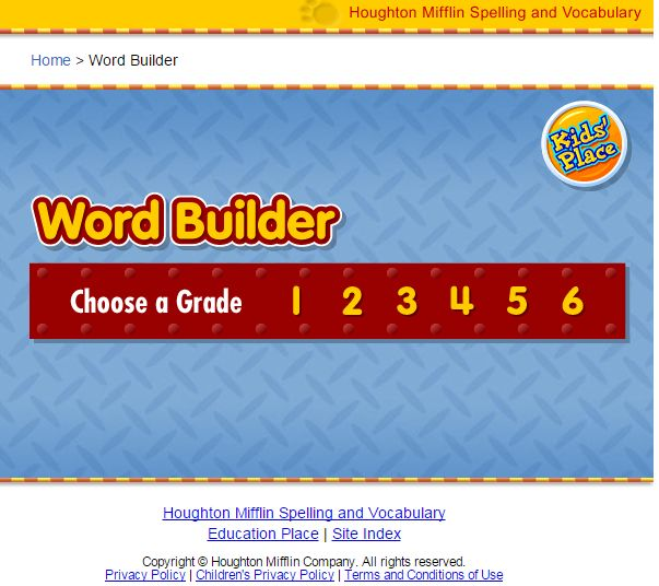 Education options word builder