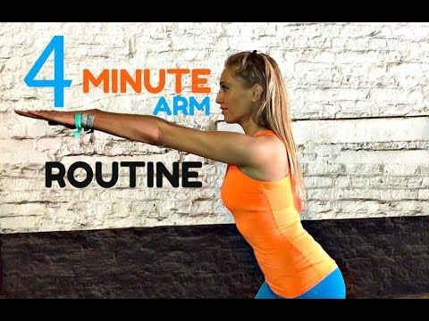 Just 4 minutes to super sculpted arms, easy to follow real time workout video. Lucy xx