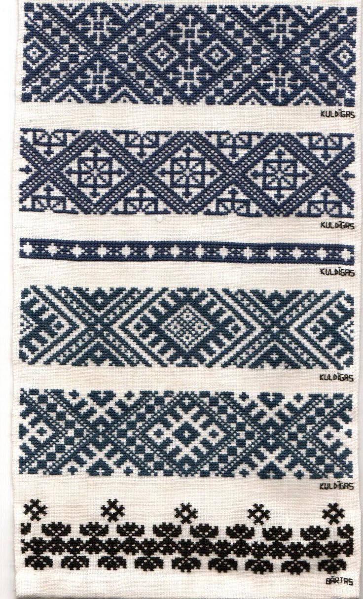 Latvian cross-stitch patterns (can use for knitting too).
