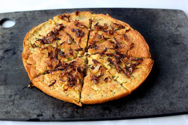 Fermented Zucchini Socca bread