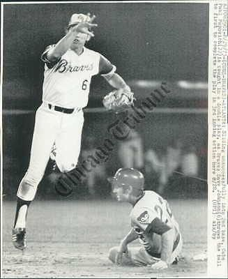 CT PHOTO afk-811 Baseball Cubs Vs Braves Game 1973