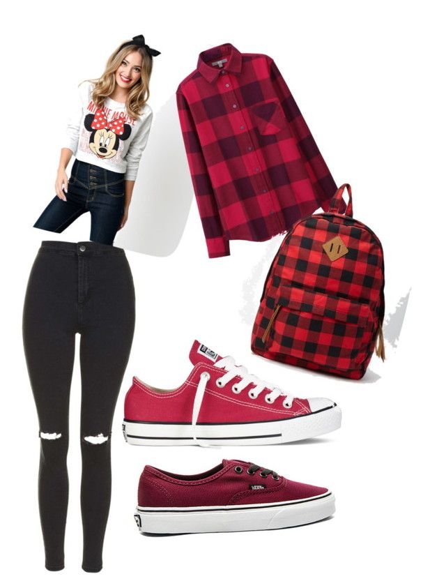 αυтυмм ѕ¢нσσℓ συтfιт❤️ by lollypopmy on Polyvore featuring polyvore, fashion, style, Uniqlo, Topshop, Vans, Converse and Forever 21