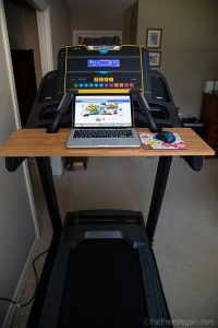 'nuther treadmill desk - this one will shake though as it is attached to the treadmill but it is a simple design