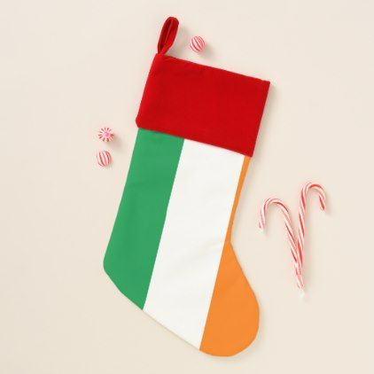 Christmas Stockings Flag of Ireland - Xmas ChristmasEve Christmas Eve Christmas merry xmas family kids gifts holidays Santa