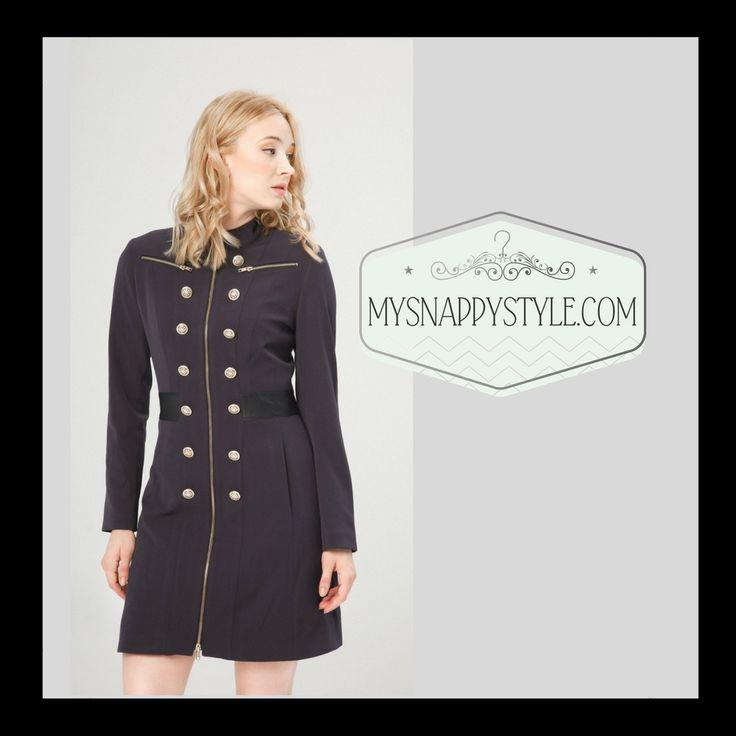 Navy women's military coat
