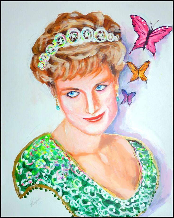 Lady Diana 24 X 32