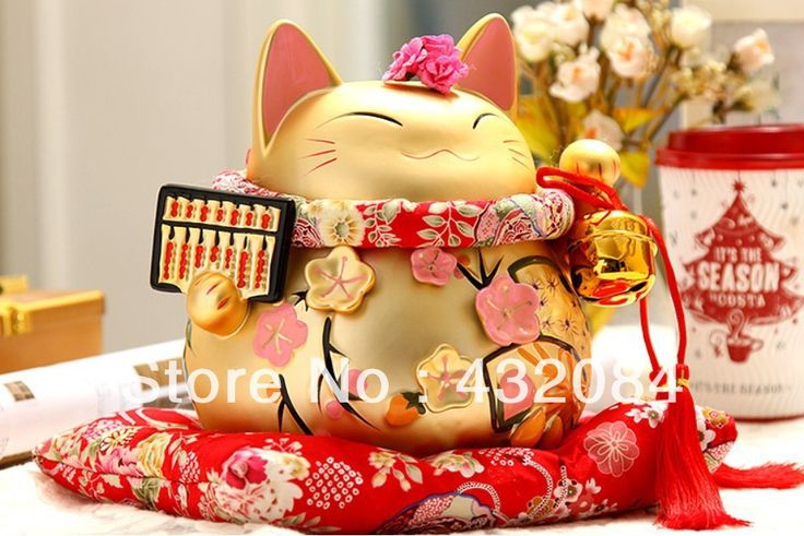 Cheap porcelain material, Buy Quality porcelain tea directly from China neko wallet Suppliers: Wealth makes big flower plutus catceramicAbout 19 cm (high) X19cm (wide) x18cm (thick)Red cushions, collar, bells, red h