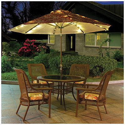 Awesome Large Patio Umbrella With Lights Roselawnlutheran Throughout Patio Umbrella With Lights