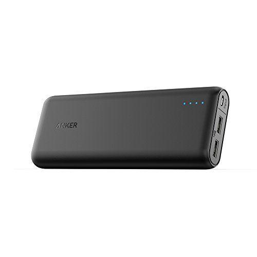 Anker PowerCore Externer Akku - kompakter als jemals zuvor - extrem hohe Kapazität 2-Port 4.8A Output Power Bank Ladegerät mit PowerIQ Technologie für iPhone, iPad, Samsung Galaxy und weitere