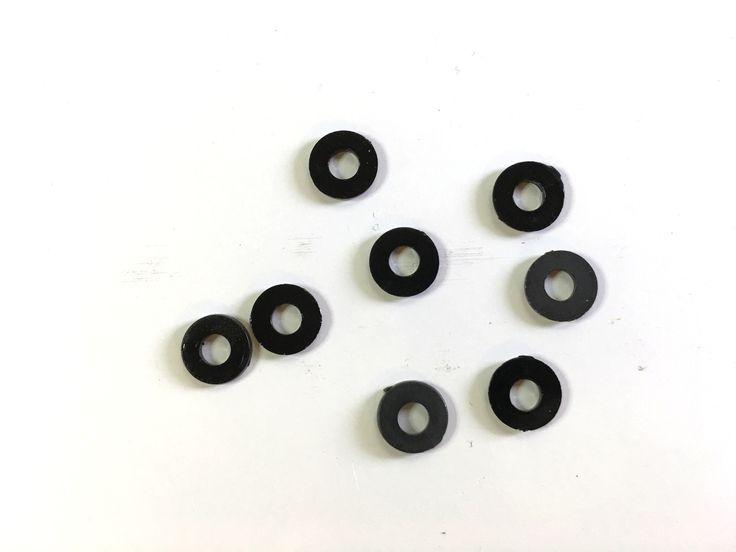 M3 black nylon washer (8 pcs)