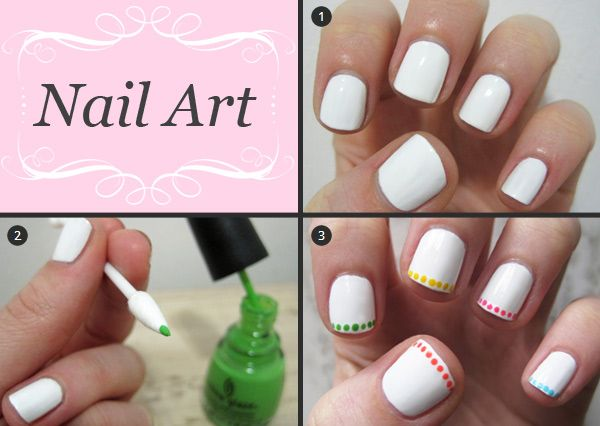 Since I can't get french tips right anyway, dots might be a fun solution. 2 more tutorials at the source.