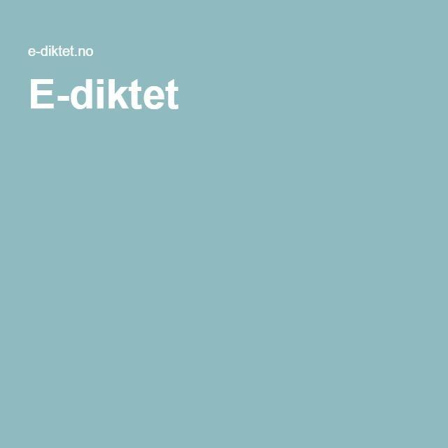 E-diktet