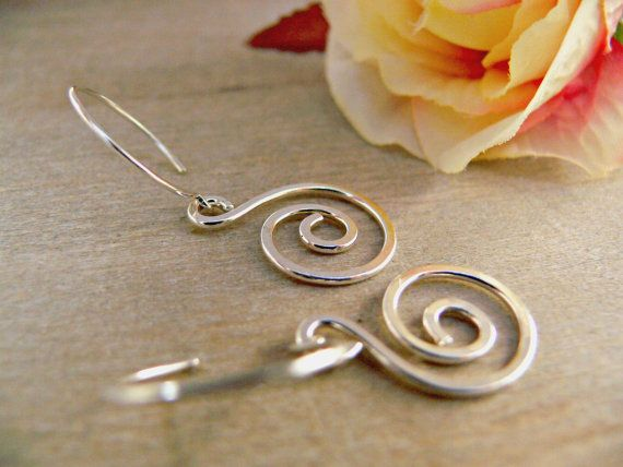 Celtic Sterling Silver Earrings are handmade by AdornWireStudio. They are a perfect gift for her this Christmas holiday season
