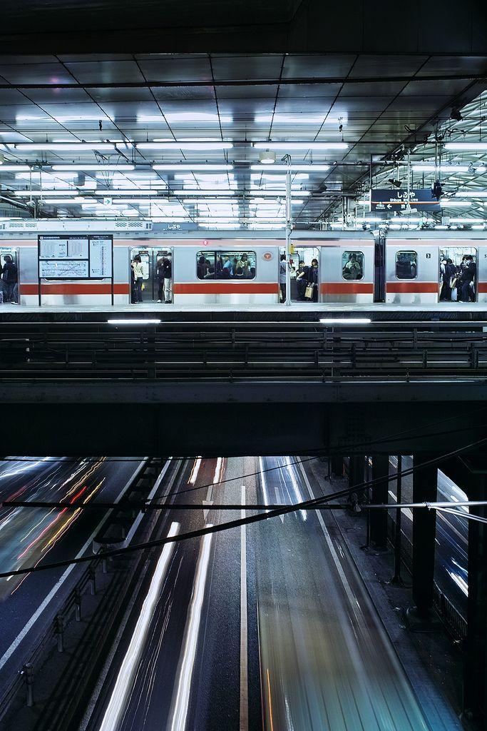 高架駅時代の東横線・渋谷駅