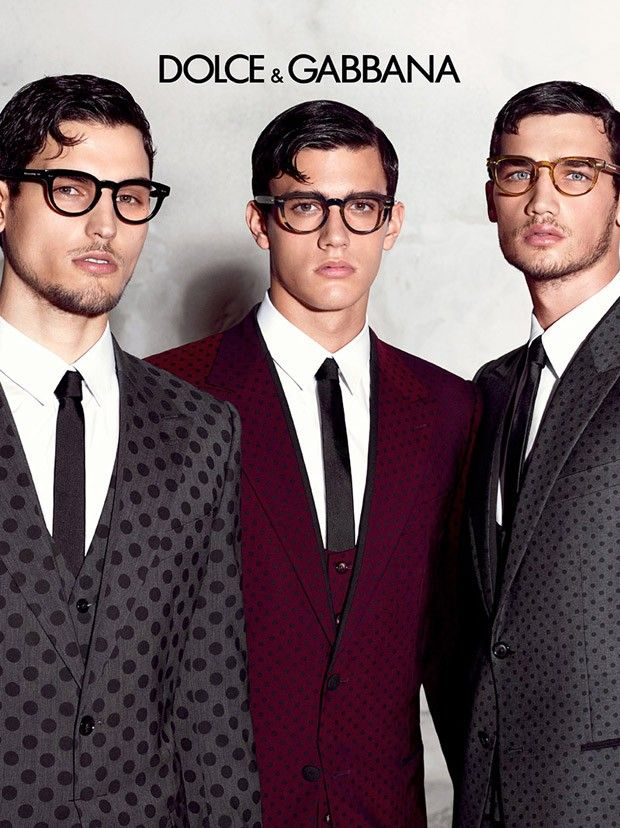 Travis Cannata, Xavier Serrano and Misa Patinszki by Domenico Dolce for the Dolce & Gabbana's Spring Summer 2015 Eyewear Campaign