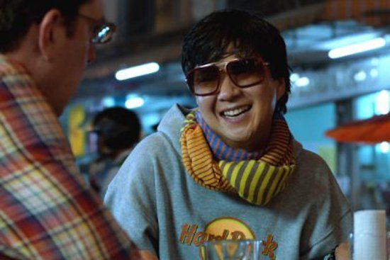 Pin for Later: 450 Pop Culture Halloween Costume Ideas Mr. Chow From The Hangover  What to wear: A Hard Rock Cafe hoodie, a colorful scarf, and sunglasses. How to act: Like a crazy person who's been partying all night long.