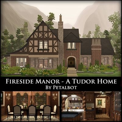 Fireside Manor- A Tudor Home By Petalbot by petalbot - The Exchange - Community - The Sims 3