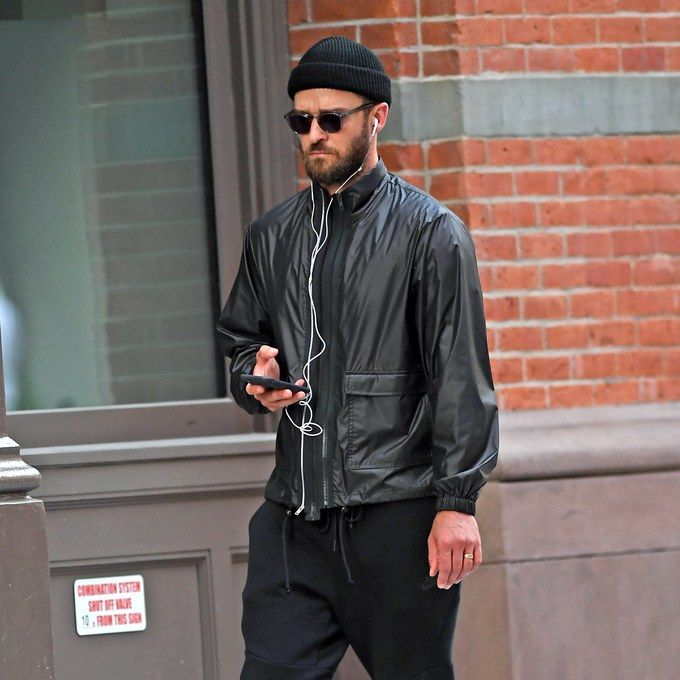 Justin Timberlake goes out jogging near his home
