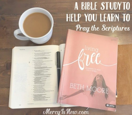 "A Bible Study to Help You Learn to Pray Scriptures - Living Free ""We must choose truth to tear down Satan's lies."" Beth Moore - 1 Corinthians 10:5 http://blog.lifeway.com/womenallaccess/online-bible-studies/living-free/#.Viwlb8uFs20"