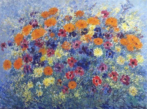 "Michele Cascella - ""Festivity floral"", 1975"