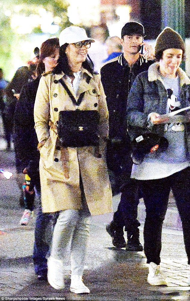 New love: They've been dating since the start of the year and Katy Perry and Orlando Bloom were pictured taking in the sights of Disneyland on Monday