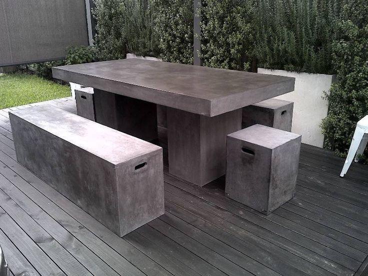 17 Best Ideas About Concrete Outdoor Table On Pinterest Concrete