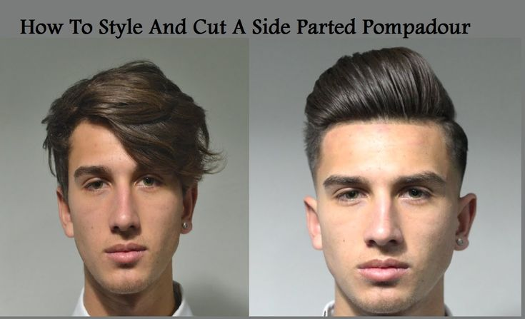 How ToCut And Style A Skin Faded Side Part Pompadour By Kieron The Barber