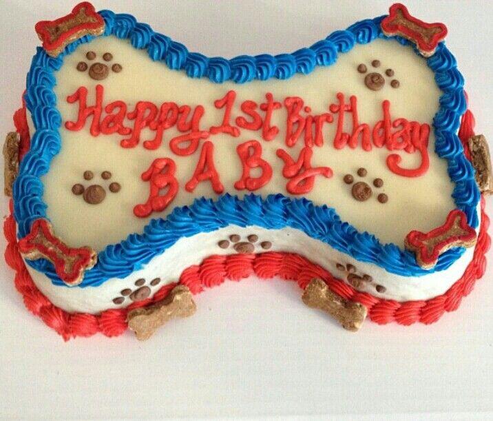 7 Quot Bone Shaped Dog Birthday Cake Dog Cakes Puppy Cakes
