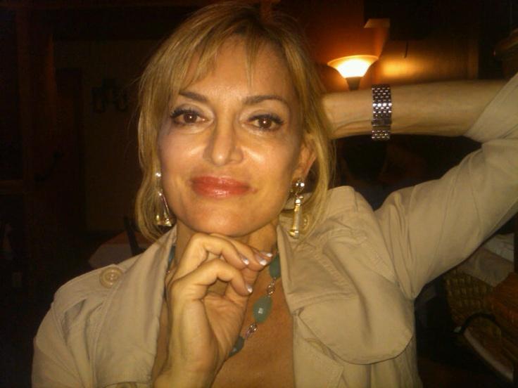 My beautiful friend, Cecelia, wearing my earrings...