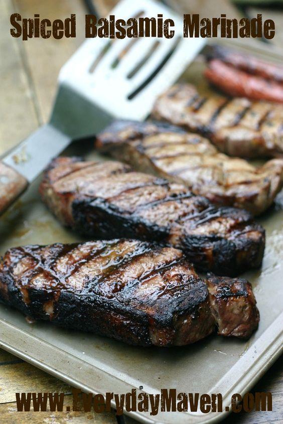 Balsamic Marinade for Steak. Paleo Strip Steak Marinade. Easy Steak Marinade!