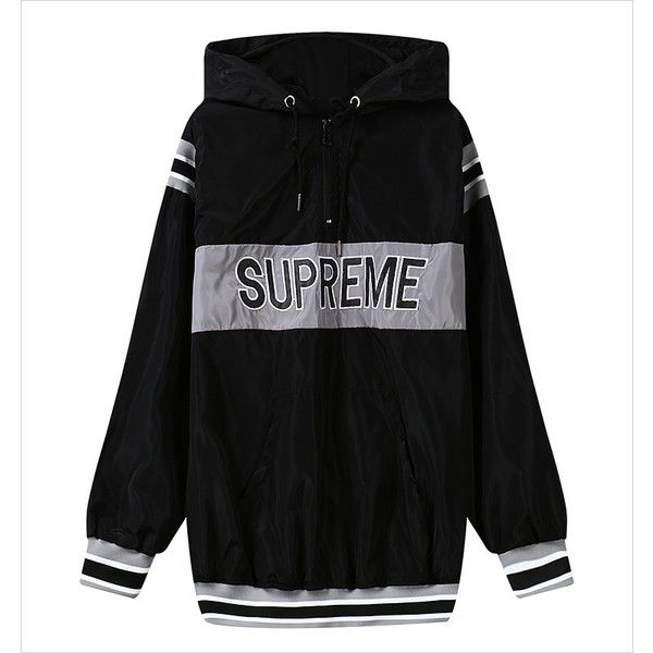 Black Letter Supreme Embroidery Stripe Hoodie 15HD00004-2 ($24) ❤ liked on Polyvore featuring tops, hoodies, beige, hooded sweatshirt, black hoodies, black sweatshirt hoodie, hoodie sweatshirts and black striped hoodie