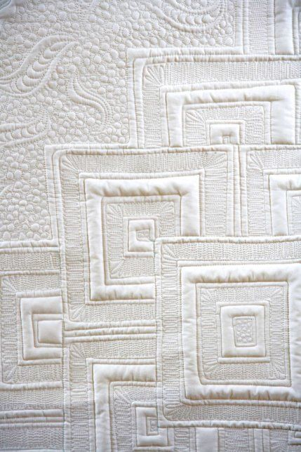 Modern Free Motion Quilting Patterns : Modern quilting negative space with back and forth free motion straight linesMake Quilting the ...