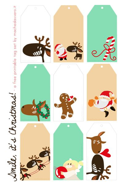FREE printable funny Christmas gift tags