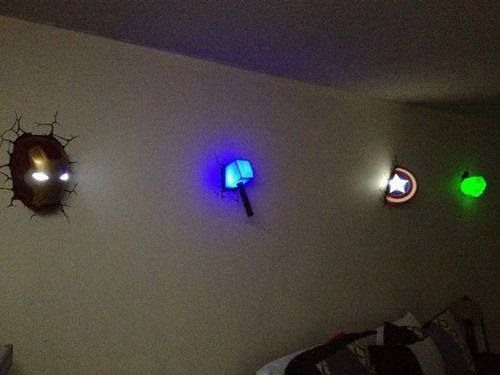 The Avengers wall lights