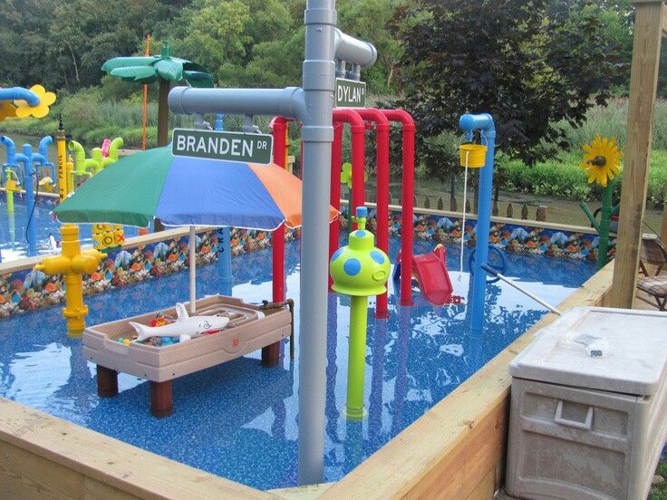 Backyard water park for the kids backyard water ideas for Children s garden pools