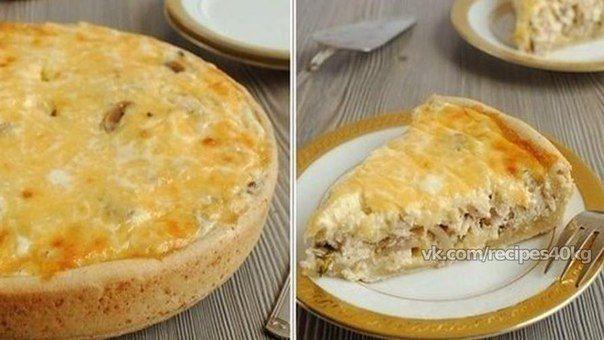 🔹 Пирог-сметанник с курицей и грибами 🔹<br><br>🔸 На 100 гр - 159,8 ккал 🔸 белки - 12,64 🔸 жиры - 8,83 🔸 углеводы - 6,73 🔸<br><br>Ингредиенты:<br><br>-Курица приготовленная, филе – 500 г<br>-Сыр – 300 г<br>-Яйцо – 3 шт<br>-Грибы приготовленные (можно консервированные) – 2 горсти<br>-Сметана – 500..